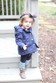 cute coat head band leg warmers boots children's fashion