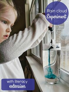 Rain Cloud Experiment Rain Clouds, Fun Crafts For Kids, Kid Friendly Meals, Yoga Pants, Homeschooling, Pearls, Science Experiments, Learning, Kid Stuff