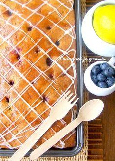 Carrés moelleux au citron & aux myrtilles