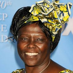 Wangari Maathai (1940-2011) was a Kenyon political and environmental activist and her country's assistant minister of environment, natural resources, and wildlife. In 1971 she became the first woman in either East or Central Africa to earn a doctorate. In 1977, she launched the Green Belt Movement to reforest Kenya while helping women. Women were responsible for the planting of more than 30 million trees. In 2004, she won the Nobel Peace Prize. Learn more at Biography.com.