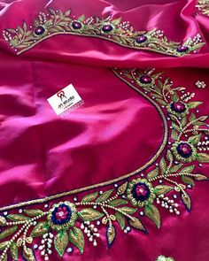 For customising your outfits - whatsapp 9133502232 Cutwork Blouse Designs, Best Blouse Designs, Pattu Saree Blouse Designs, Simple Blouse Designs, Stylish Blouse Design, Wedding Saree Blouse Designs, Blouse Neck Designs, Sari Blouse, Magam Work Blouses