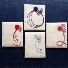 デザイン水引「おくりもの」 by Toshiko Hara - お買い物が小さな支援につながる チャリティカートのお店Noued(ヌー)です String Crafts, String Art, Paper Crafts, Diy And Crafts, Arts And Crafts, Japanese Colors, Japan Design, Mini Things, Japanese Paper