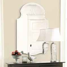 Ballard Designs Frameless Mirror (monogram optional)
