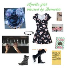 """""""Not your normal Apollo girl (blessed by Demeter also)"""" by haileyscomet95 ❤ liked on Polyvore featuring Hollister Co., Pusheen and CO"""