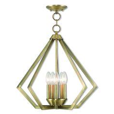 Livex Lighting Prism Antique Brass Chandelier 40925-01