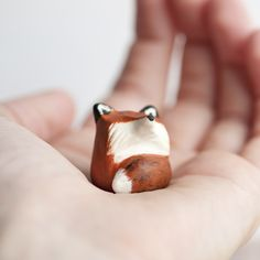 Befriend this adorably round totem and channel the spirit of the red fox! Why, hello. I'm Mr. Clever. Catch me if you can! This totem is made to order and ships within 7-10 business days. Fat-Fat tote
