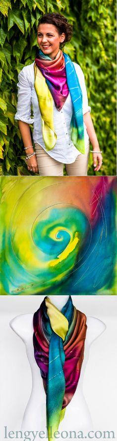 LENGYEL LEONA ONLINE SHOP http://www.lengyelleona.com/storm/ 'Storm' scarf, Made…