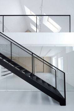 Cable Industrial Staircase Railing, Rs 1200 /feet, M/S Thakur Engg. Stair Handrail, Staircase Railings, Metal Railings, Spiral Staircases, Steel Balustrade, Banisters, Stairways, Railing Design, Staircase Design