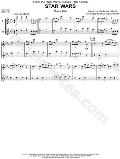 """Star Wars (Main Theme) - Flute Duet"" from 'Star Wars' Sheet Music in Eb Major - Download & Print"