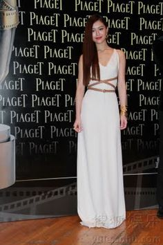 Janice Man's white frock won her best dressed of the night by the HK Film Awards.