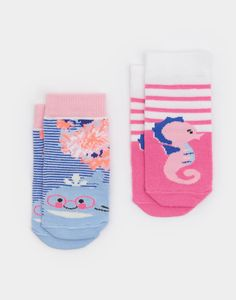 Neat feet Coastal Bamboo Socks Two Pack  | Joules US