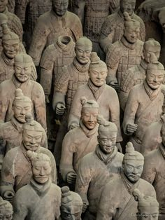 Close up of the individual Warriors - every single one has a different facial expression, more than 6,000 of them! from #markcarnaby at www.carnabysnaps.com - all images Creative Commons Noncommercial
