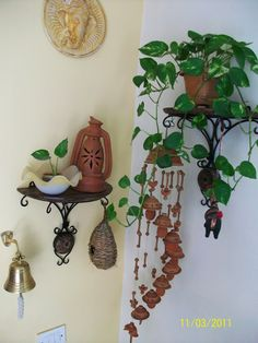 Terracotta and green , small space decor lovely arrangement of plants