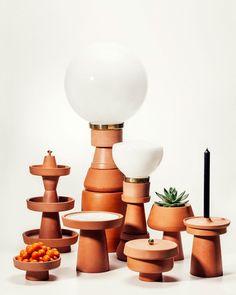 designer Brunno Johara. Lembra as formas da ceramica de Aldemir Martins.