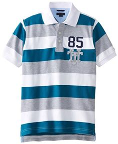 Tommy Hilfiger Big Boys' Short Sleeve Page Stripe Polo, D. Mens Polo T Shirts, Shirt Men, Dress With Boots, Tommy Hilfiger, Men's Chinos, Casual Outfits, Polo Ralph Lauren, Menswear, Toxic Vision