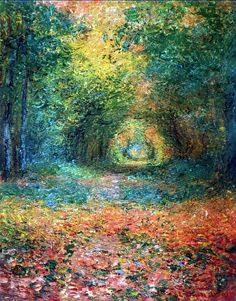 Claude Monet , bosquet à Saint-Germain , 1882