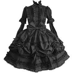 Partiss Women Cotton Stand Collar Long Sleeves Bowknots Ruffles... ($70) ❤ liked on Polyvore featuring dresses, flounce dress, longsleeve dress, frill dress, long sleeve dress and flouncy dress