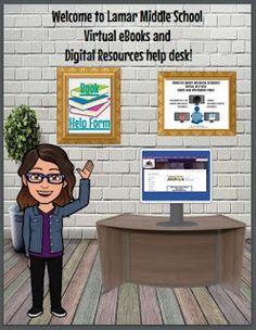 Bee in the Bookends: Bitmoji for the Library School Library Lessons, School Library Displays, Middle School Libraries, Elementary School Library, Reading Library, Library Girl, Virtual High School, Teacher Librarian, Library Activities