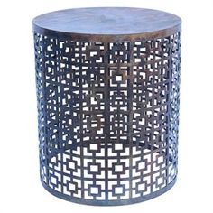 orson and blake $385 Net brass stoo/side table