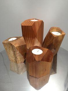 Cube tea light holders