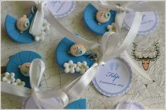 Baby favors, handmade favors, polymer clay by Zubiju https://www.facebook.com/Zubiju