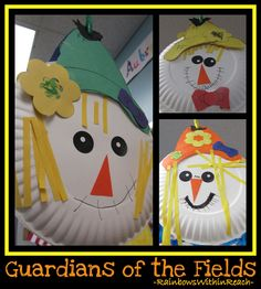 Fall Craftivity for Kindergarten making Scarecrows via RainbowsWithinReach