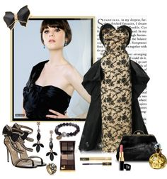 """""""Zooey Deschanel @ 64th Emmy Awards"""" by mzdiamondgirl ❤ liked on Polyvore"""