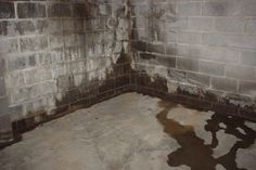 Water Proofing Fix It Time Waterproofing basement wall sealer - Basement Sealing Basement Walls, Basement Waterproofing Paint, Leaky Basement, Basement Repair, Dry Basement, Basement Storage, Basement Renovations, Basement Ideas, Basement Finishing