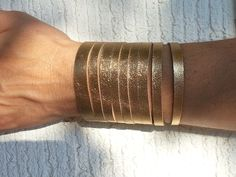 gold leather bracelet -my creation!!!