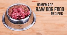 DIY homemade raw dog food recipes and a basic guide on how to get started feeding your dog a raw diet. How I switched my dog to a raw diet.