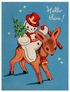 Hello there! #vintage #Christmas #cards