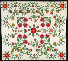 Unknown, Floral Applique Sampler Quilt, ca. 1860. Minneapolis Institute of Arts