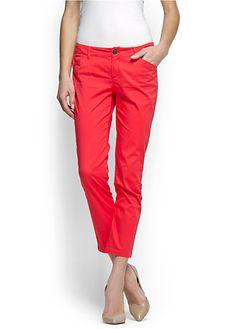 Red capri pocket trousers, Mango, $39.99