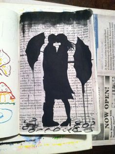 Wreck this journal- newspaper entry- wanted to try Jover's style
