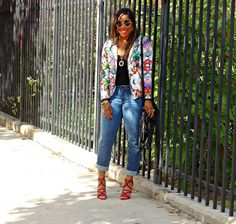 Weekend Casual Flow: Florals and Denim