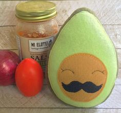 Plush Avocado Stuffed Toy by lilliannamarie on Etsy
