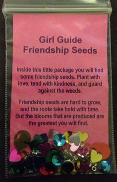 Girl Scout Friendship Seeds