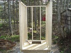 Survival and Urban Survival Shed Plans 8x10, 10x12 Shed Plans, Building An Outhouse, Urban Survival, Outdoor Structures, Diy Crafts, Tiny Camper, Wood, House