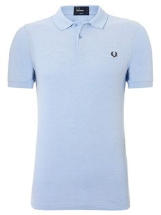 Fred Perry Slim Fit Blue Oxford Polo Shirt