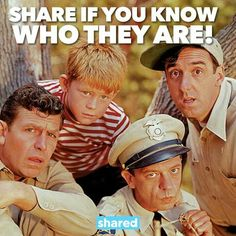 Andy Griffith, Ron Howard, Jim Nabors, Don Knotts