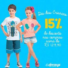 Dia das Crianças é na Abrange! :D :) Aproveite que toda loja está com 15% de desconto nas compras acima de R$ 129,90, e garanta o presente dos pequeninos♥