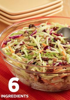 Find out the 6 delicious ingredients used in this  perfect picnic side, Sweet and Tangy Broccoli Slaw.