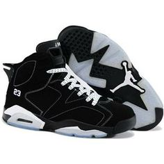 New Nike Air Jordan 6 Mens Shoes in Black and White, cheap Jordan If you  want to look New Nike Air Jordan 6 Mens Shoes in Black and White, ...