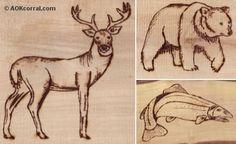 Wildlife Patterns; Wood Burning More