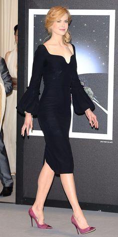 Nicole Kidman in bell-sleeve Alexander McQueen dress at Cannes 2013