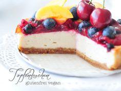 Topfenkuchen vegan glutenfrei und fructosearm