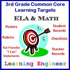 Why you should get yourself a set of Learning Targets for the Common Core State Standards.