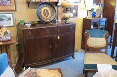 buffet $650.00... Fleur di lis platter with stand $40.00... Antique lamp $200.00
