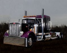 Old Peterbilt Conventional - love big trucks unless the drivers are a-holes on the road