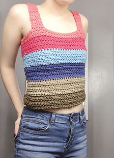 Ravelry: Malibu Crop Top pattern by Fair Isle Yarn